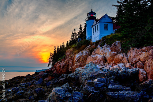 Photo Stands United States Bass Harbor Lighthouse, USA