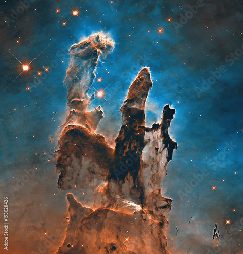 Obraz Pillars of Creation. Elements of this image furnished by NASA. - fototapety do salonu