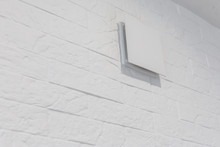 Close Up Of Vent On The White Wall Plastic Ventilation Grid Piece Of Home Ventilation System
