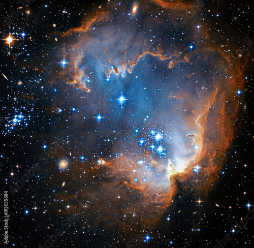 Star Forming region NGC 602. Deep space. Elements of this image furnished by NASA. Retouched image.