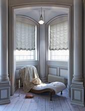 Elegant Style Sitting Victorian Reading Space. 3d Rendering