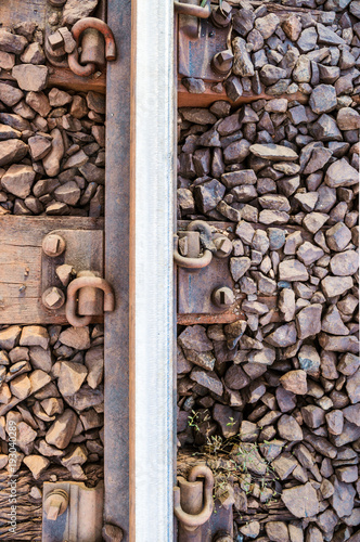 Photo  Train track close up