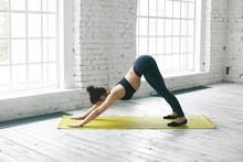 Full Length View Of Flexible Y...