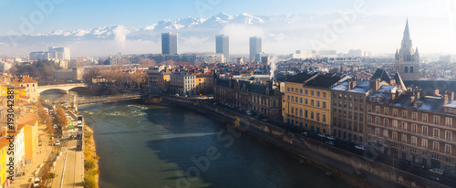 Grenoble under clouds Wallpaper Mural