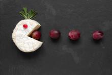 Camembert Or Brie Cheese Cut O...