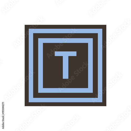 Vector Symbol Of Letter Tau From The Greek Alphabet Buy This Stock