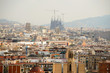 Panoramic view of Barcelona on a summer day