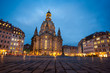 The Neumarkt square and Frauenkirche (Church of Our Lady) in Dresden at night
