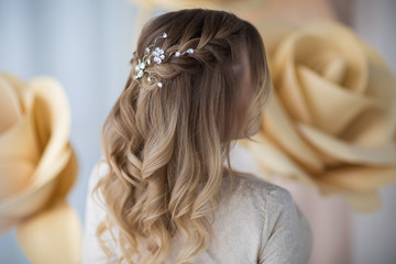 wedding hairstyle, rear view
