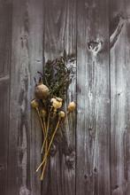Dry Poppy Head In A Bouquet