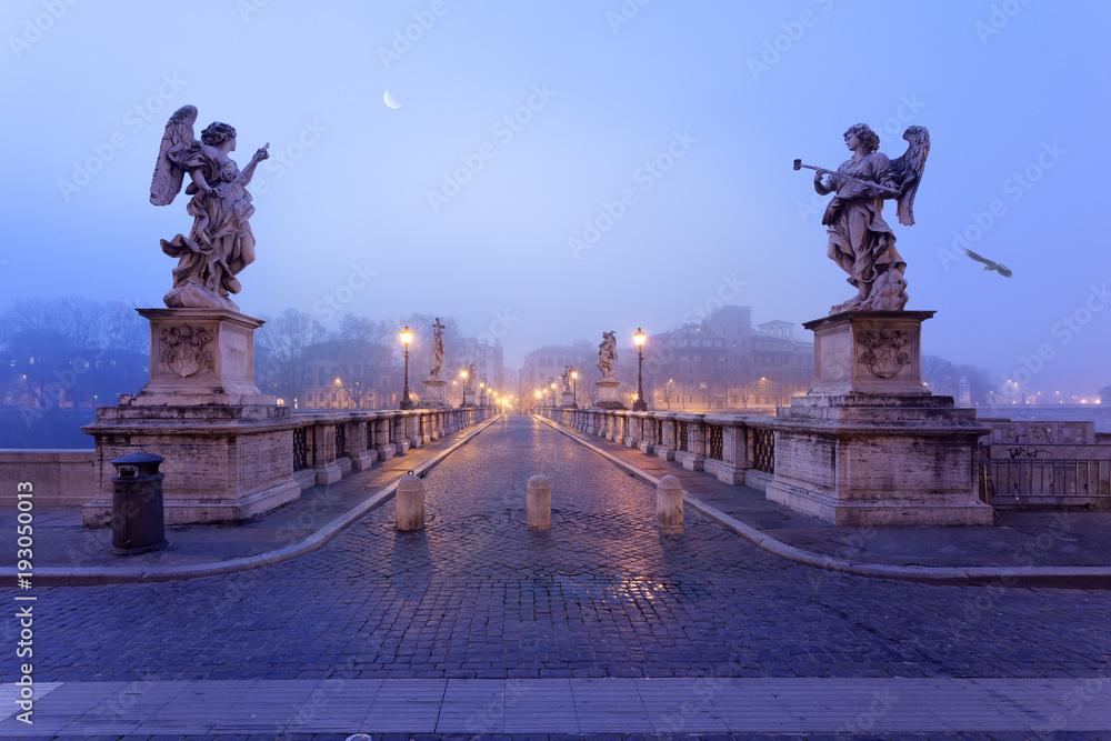 Fototapety, obrazy: Saint Angel bridge in Rome
