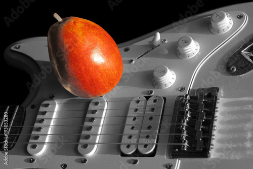 Fender Stratocaster with Pear Canvas Print