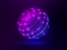 Abstract Glowing Sphere. Brigh...