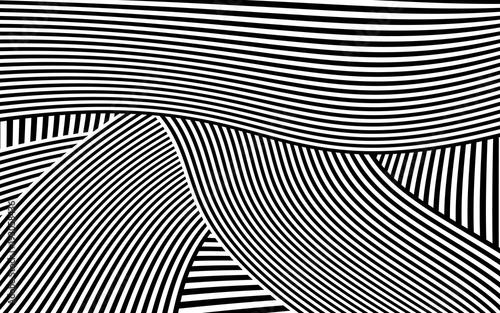 Spoed Foto op Canvas Psychedelic Zebra Design Black and White Stripes Vector