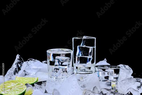Photo  Three stacks of vodka