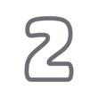 2 Tire Print Track Letter Logo Icon Design