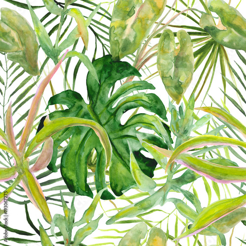 Seamless tropical leaf pattern