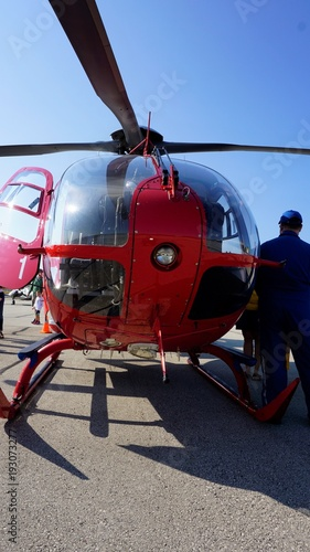 Poster Helicopter Helicopter - Air Ambulance - Airport - Helipad