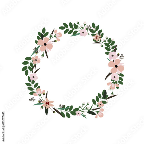 Fotografia Vector flower wreath