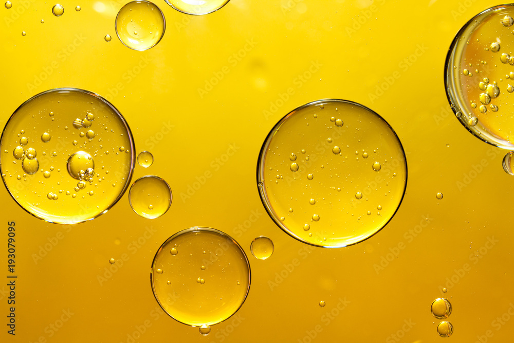 Obraz golden yellow bubble oil fototapeta, plakat
