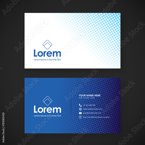 Modern business card template with flat user interface Wall mural
