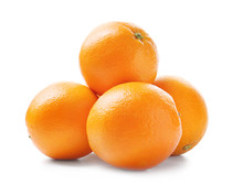 Juicy Ripe Oranges On White Ba...