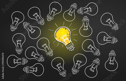 ampoules comme symbole d'idées Canvas Print