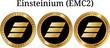 Set of physical golden coin Einsteinium (EMC2)