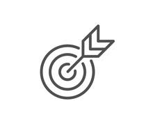 Target Line Icon. Marketing Ta...