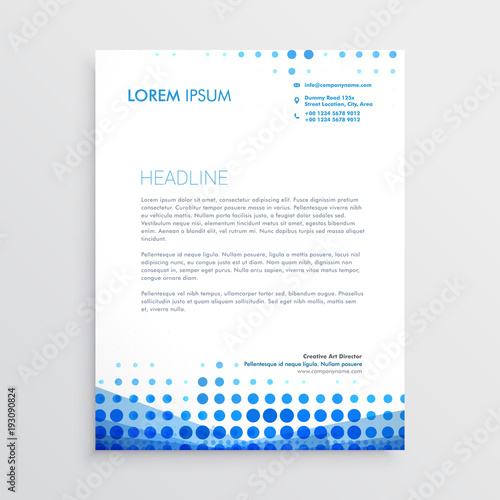 Fototapeta creative blue business letterhead design obraz