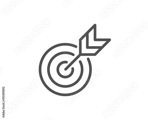 Fotografie, Obraz  Target line icon