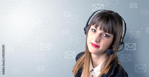 Female telemarketer