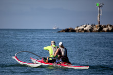 Active Couple Rowing In A Scul...