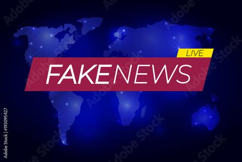 Fake news vector illustration banner on glowing world map fake news vector illustration banner on glowing world map business technology fake news gumiabroncs Images
