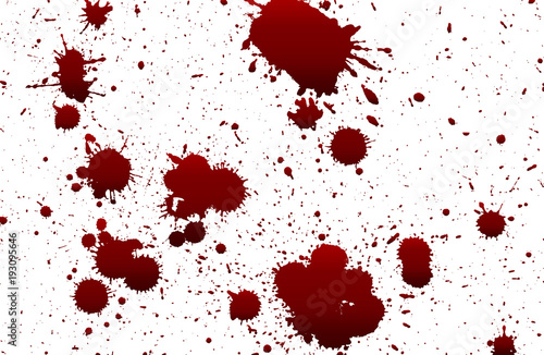 collection various blood or paint splatters,Halloween concept Tablou Canvas