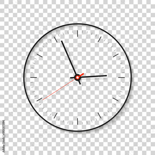 Simple Clock Minimalistic Timer On Transparent Background Business