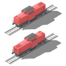 Shunting Diesel Locomotive Iso...