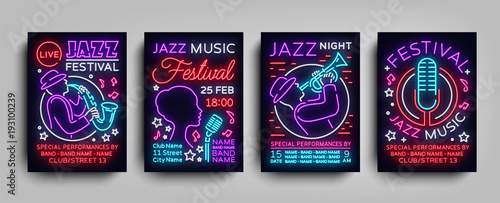 Photo  Jazz Festival posters Neon Collection