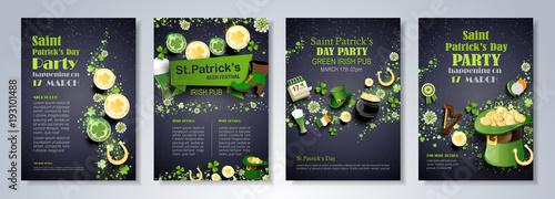 Vászonkép Saint Patrick's Day flyer