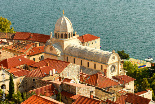 Staande foto India Saint James Cathedral in old town Sibenik, Croatia.