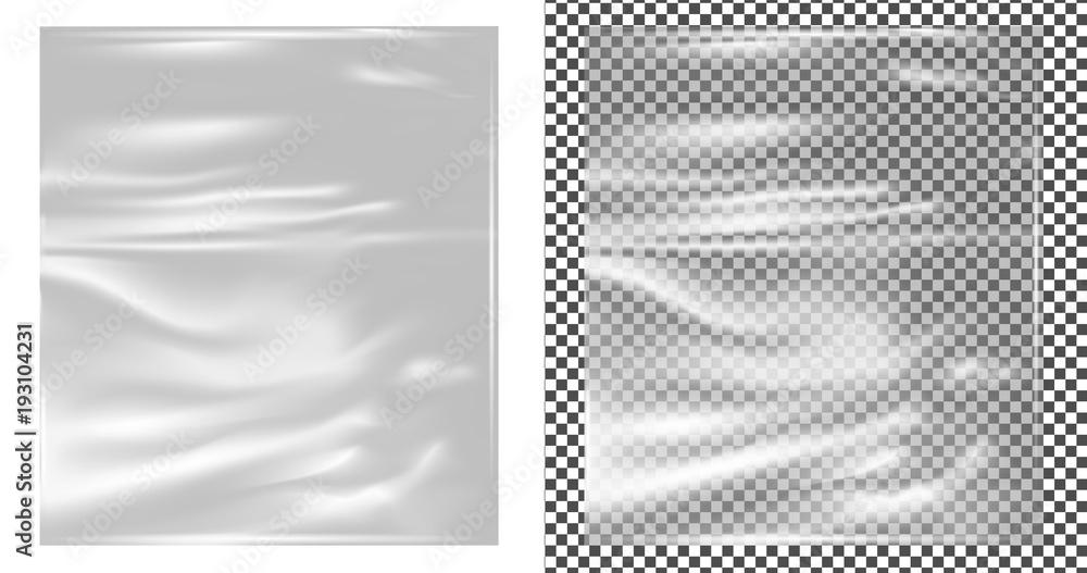 Fototapety, obrazy: Realistic transparent plastic wrapper