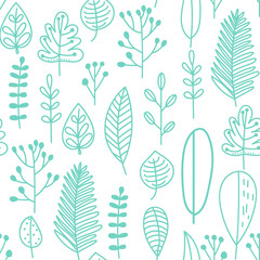 Seamless pattern in doodle ...