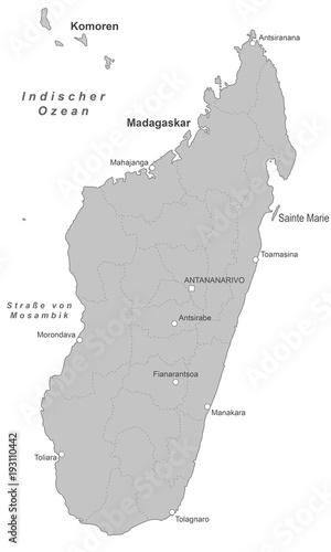 Madagaskar Karte.Madagaskar Karte Grau Buy This Stock Vector And Explore