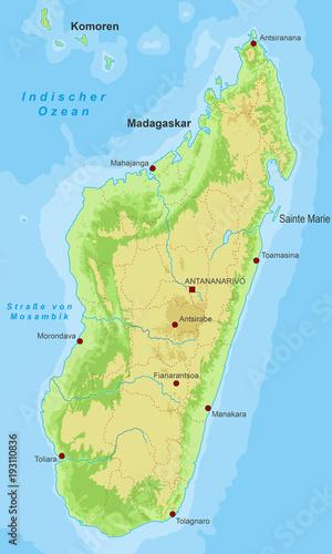 Madagaskar Karte.Madagaskar Karte Hohenschichten Buy This Stock Vector