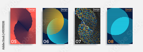 Fotografia Covers templates collection with graphic geometric shapes
