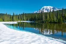 Reflection Lake And  Mount Rai...