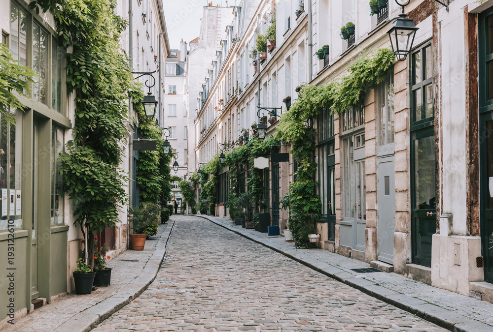 Fototapety, obrazy: Cozy street in Paris, France