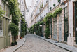 canvas print picture Cozy street in Paris, France