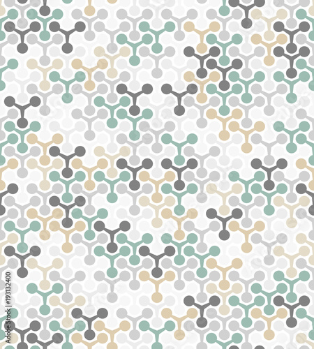 Abstract geometric pattern with circles. A seamless vector background. White and color ornament. Graphic modern pattern