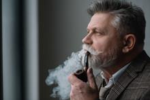 Bearded Senior Man In Tweed Co...
